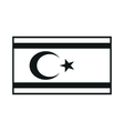 Northern Cyprus Flag monochrome on white vector image