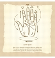 Palmistry sign on vintage background vector image vector image