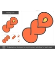 Pastry line icon vector image vector image