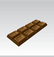 perspective chocolate block bar vector image