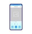 photo editing smartphone app template vector image