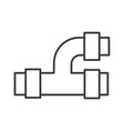 pipes plumbing line icon sign vector image