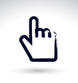 Point hand gesture created with real hand drawn vector image vector image