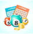 realistic detailed 3d lotto concept card vector image vector image