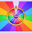 realistic spinning wheel of fortune vector image