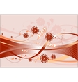 Red floral theme on pink background vector image