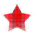 red star halftone dotted icon vector image