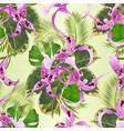 seamless texture tropical flowers orchid vector image vector image