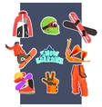 Snowboarding Icon Set vector image