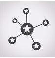 social star network icon vector image