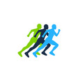 speed run logo icon design vector image vector image