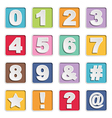 square alphabet icons vector image vector image