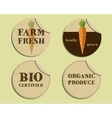 Stylish Farm Fresh label and sticker template with vector image vector image