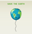the earth balloon vector image