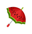 ute watermelon umbrella on a vector image