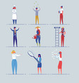 various professions and occupations set vector image vector image