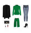 women clothing set vector image vector image