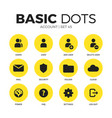 account flat icons set vector image