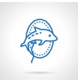 Animal balloon icon blue simple line style vector image