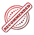 Recommended damaged stamp vector image