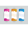 colorful splodge banners vector image