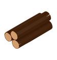 wooden log isometric vector image