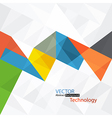 abstract colorful triangles vector image vector image
