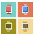 assembly flat icon digital watch vector image vector image