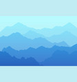 beautiful scenic landscape background vector image vector image