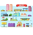 big city buildings set vector image