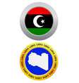 button as a symbol LIBYA vector image vector image