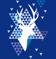 Christmas deer with triangle pattern vector image vector image