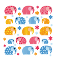 Colorful with an elephant vector image vector image