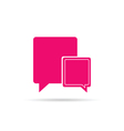 comic speech bubble pink vector image vector image