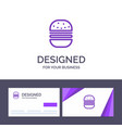 creative business card and logo template burger vector image vector image