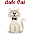 cute cat with tie vector image vector image