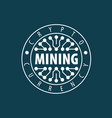digital currency mining vector image vector image