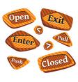 Door-signs vector image vector image