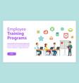 employee training programs website workteam vector image vector image