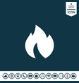 fire flame icon vector image vector image