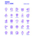 flat line gradient icons design-business and vector image vector image