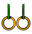 gymnastic rings icon icon cartoon vector image vector image