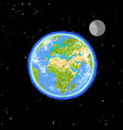 hand drawn earth in the spase vector image vector image