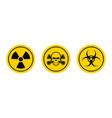 hazard warning signs biological and radiation vector image