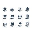 insurance conceptual icon set vector image