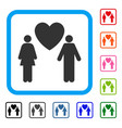 love couple framed icon vector image