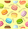 macaroons seamless pattern vector image vector image