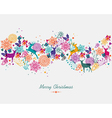 Merry Christmas colorful garland banner vector image vector image