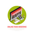 mobile food ordering concept vector image vector image