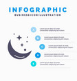 moon night star weather space infographics vector image vector image